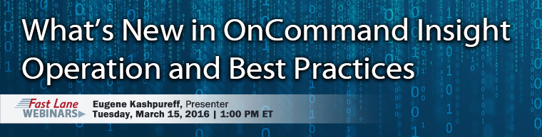 OnCommand Insight Operation & Best Practices